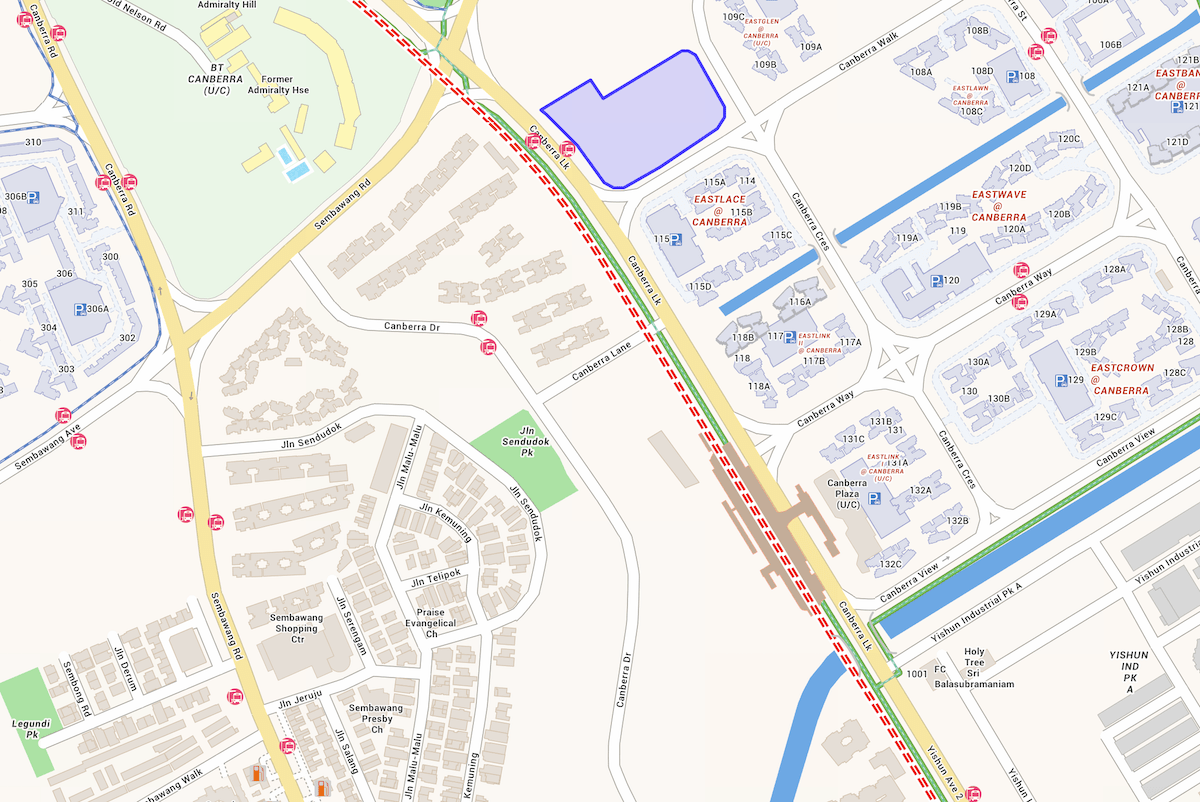 Location Map of Parc Canberra